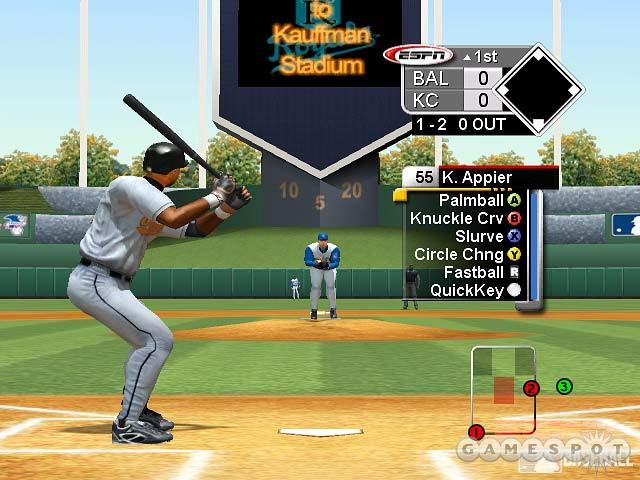 ESPN Major League Baseball has a wider pitch selection than World Series Baseball 2K3 did.