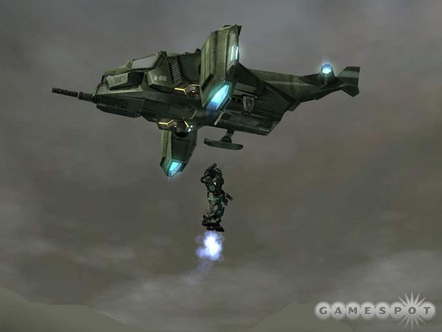 VTOL transports play a role in MechAssault 2.