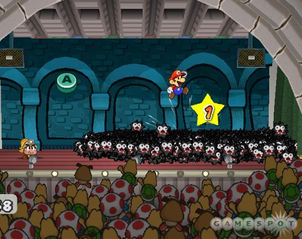 Paper Mario 2 will require you to play to the crowd.
