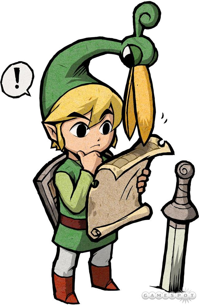 Link's cap has a mind of its own.