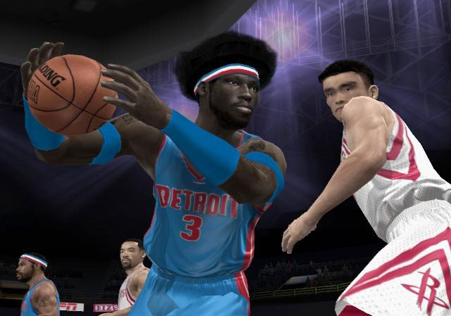 Ben and his 'fro look to repeat the Pistons' NBA domination this year.