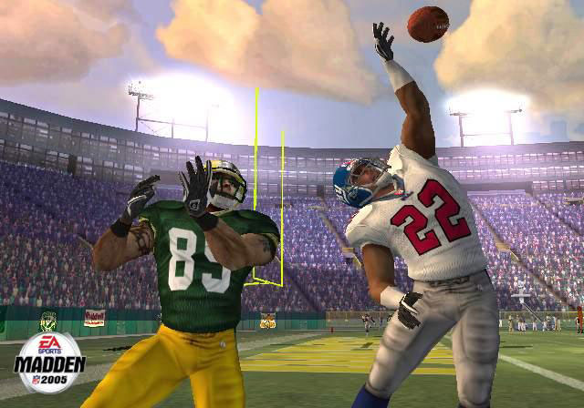 Passes get batted down quite a bit in Madden 2005.
