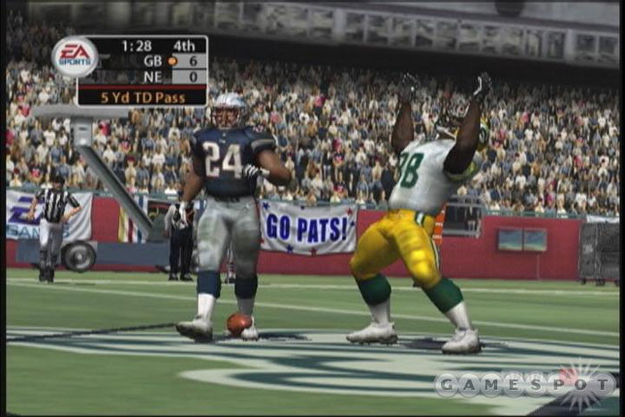 Ty Law's a little beefy--we're not totally enamored with Madden's player models.