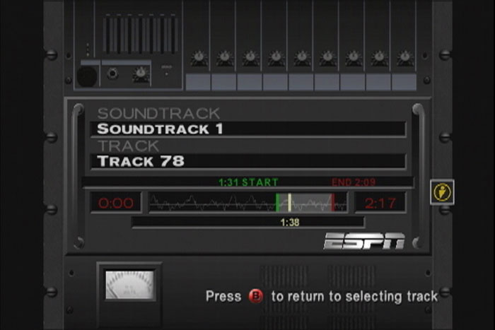 ESPN NFL on the Xbox lets you do some basic tweaking to the soundtrack.