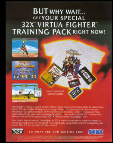 Funny thing is that this is the rarest 32X-related item to get. A video, a TV, coupons...but no demo?