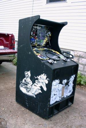 A Death Race arcade cabinet