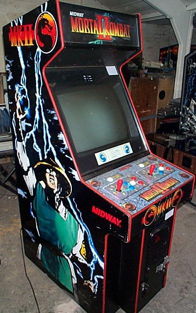 A Mortal Kombat II arcade cabinet