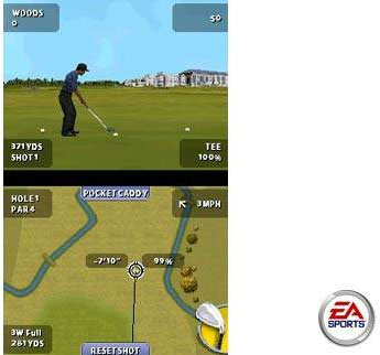 ...and here's the other one. Tiger's analog swing mechanic should add complexity to the golf game, PDA-style.