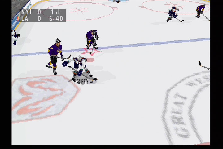 Numerous camera angles were just one of the cool features in NHL 98.