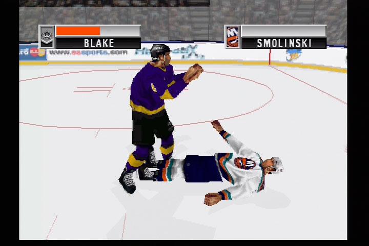 Fights were over pretty quick in NHL 98.
