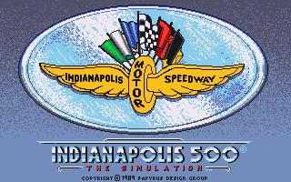 Indianapolis 500 splash screen