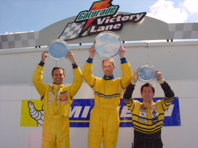 Victory lane at Skip Barber Racing school.