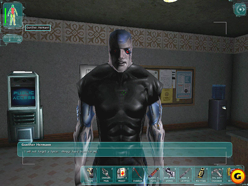 Deus Ex offered the choice of peaceful or forcible solutions to problems.
