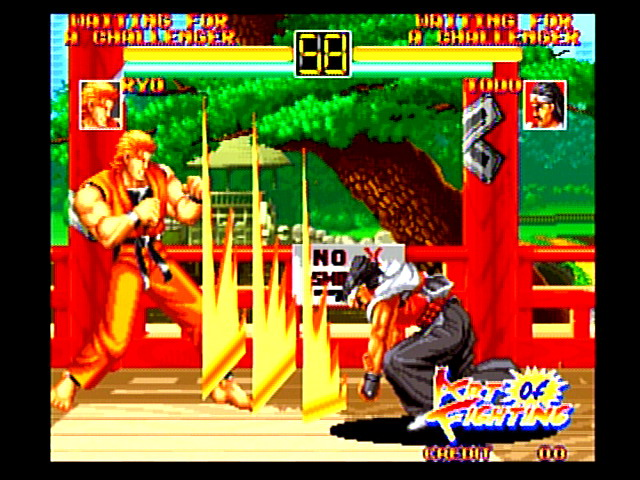 Art of Fighting used scaling graphics to make characters fill the screen as they fought in close quarters.