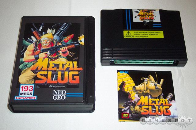 Metal Slug wasn't produced in huge quantities for the NeoGeo home console. The AES home console version can go for upward of $1,000. Shown here is the complete set. (Photo courtesy of the NeoStore.)