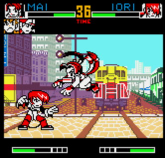 Long before King of Fighters EX2 came to the GBA, you could play the wonderful King of Fighters R-2 on the NeoGeo Pocket Color.