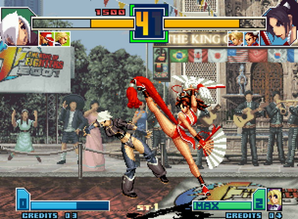 King of Fighters 2001 was developed by Eolith and published by BrezzaSoft, which is now part of SNK Playmore.