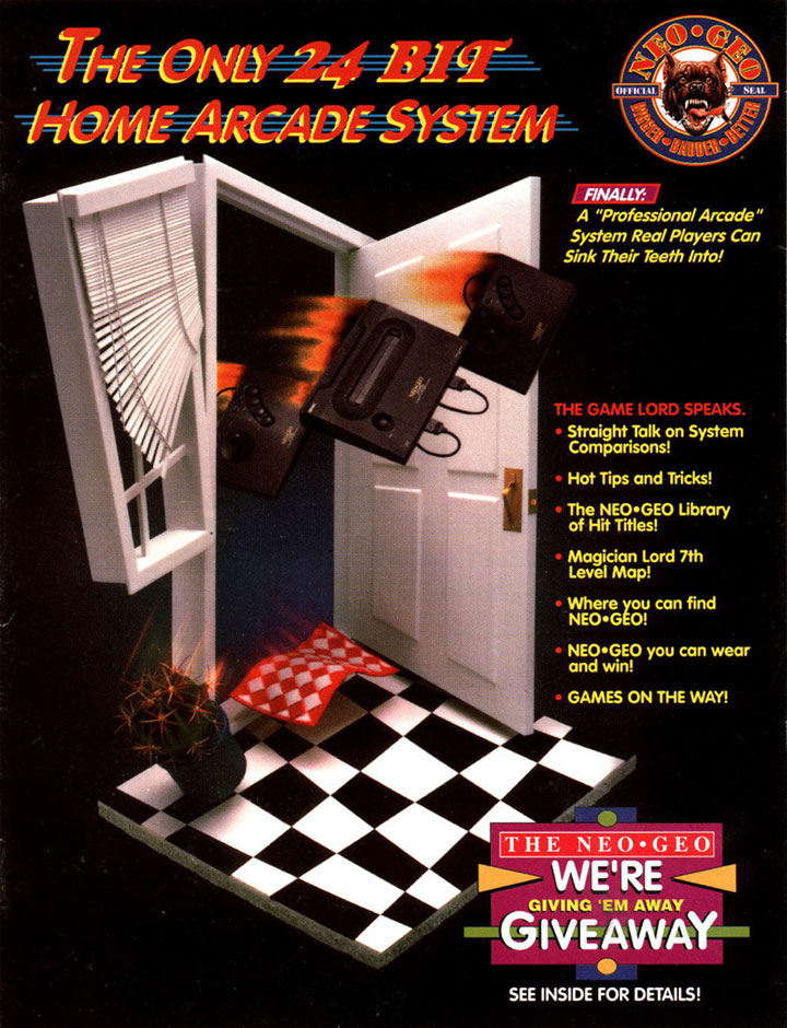 An advertisement for the 24-bit NeoGeo.