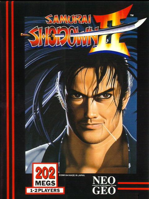 Cover insert for Samurai Shodown II.