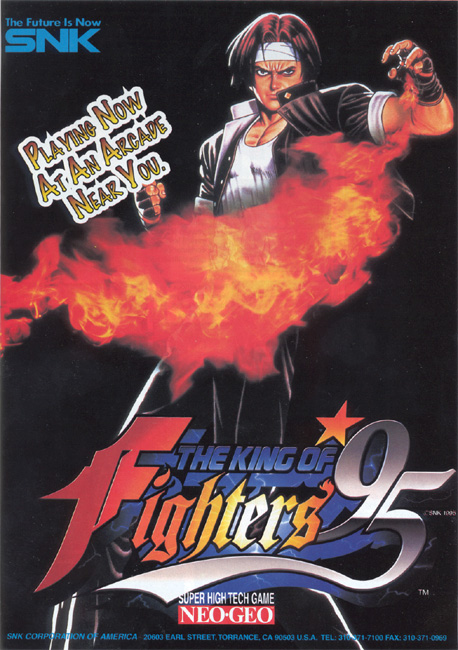 Advertisement for King of Fighters '95.
