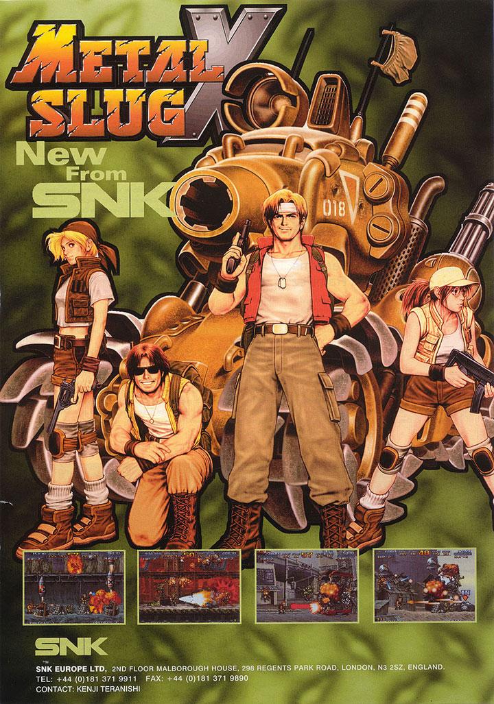 An advertisement for Metal Slug X.