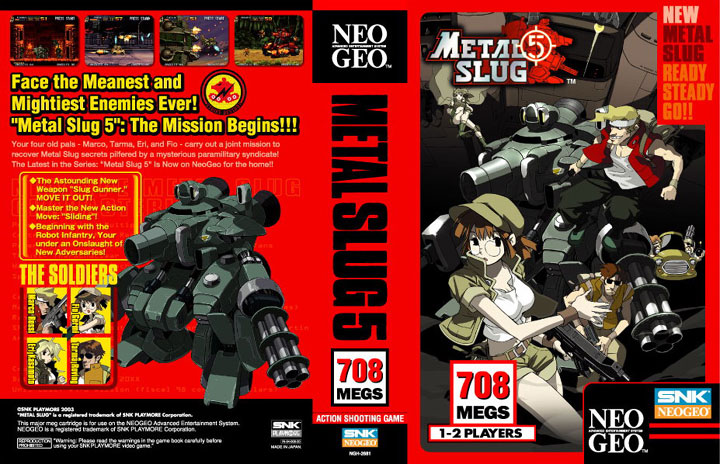 Insert for the English AES release of Metal Slug 5.