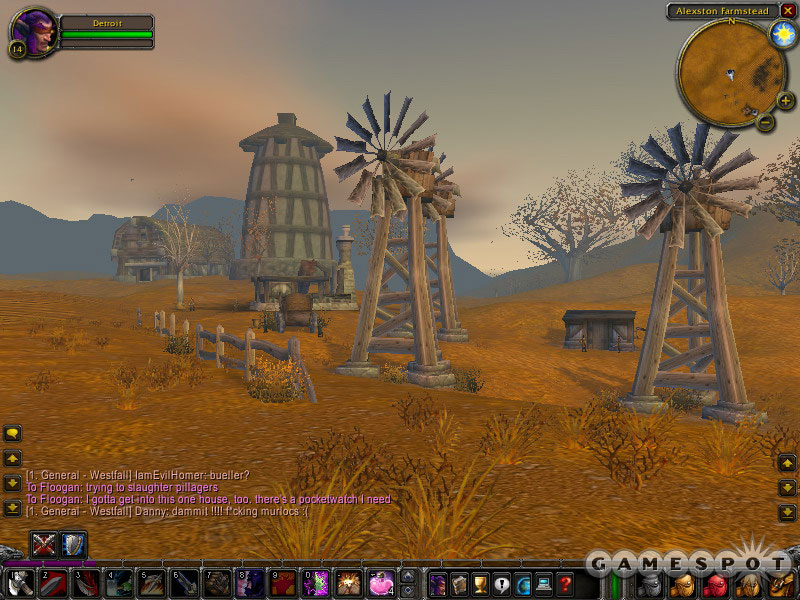 If city life isn't to your liking, the rural farming area of Westfall is just a short gryphon ride away.