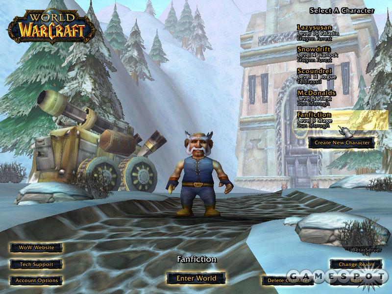 Yes, I've played the World of Warcraft beta.