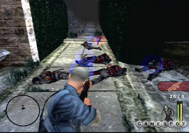 If you're quick on the trigger, you can use the L1 button targeting to mow down your enemies.
