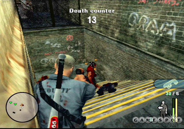 Lean up against this corner and get headshots as the Hoods come up the stairs.