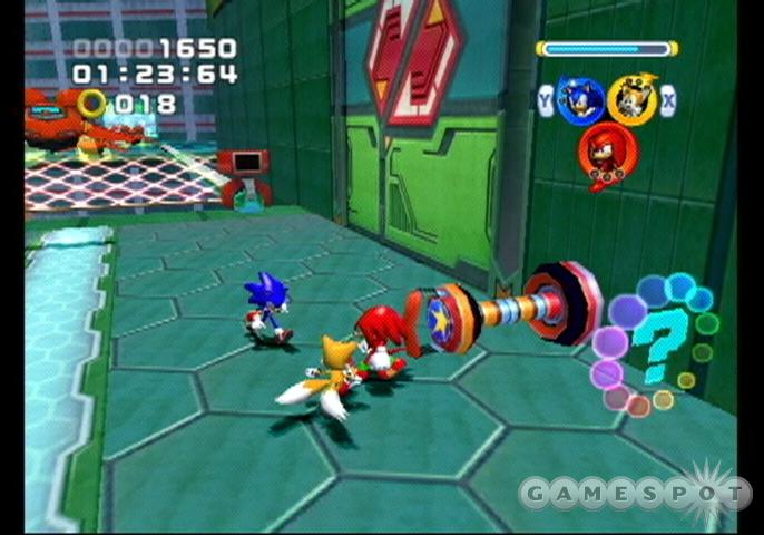 Sonic Heroes drops the adventure and picks up some speed.