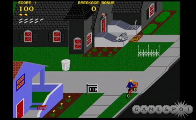 The world's first vandalism/entrepreneurial sim, Paperboy.