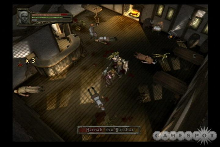 You'll spend most of your time in Dark Alliance II hacking your way through monster-infested dungeons.