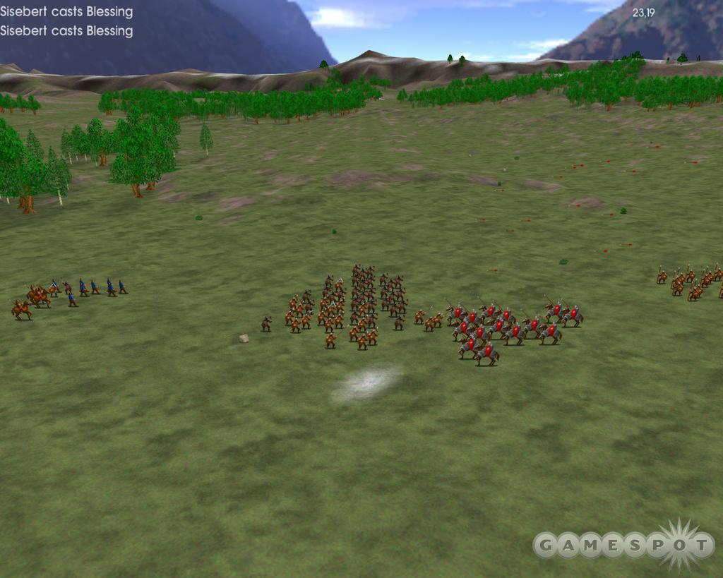 You can only watch replays of battles, and the presentation and graphics are straight out of a '90s-era strategy game.