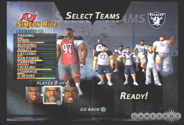 It's not surprising that the 2002 Super Bowl champ Bucs have one of the best rosters in NFL Street.