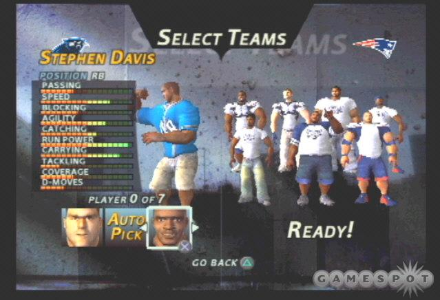 The 2003 NFC Champion Carolina Panthers focus on a strong running game and a smothering defense.