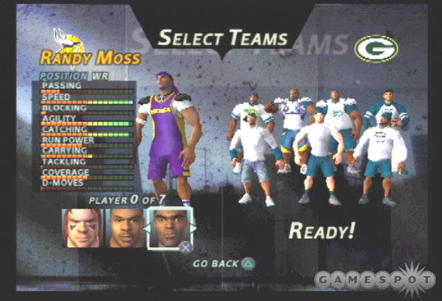 Based on ratings, Randy Moss is the best receiver in NFL Street.