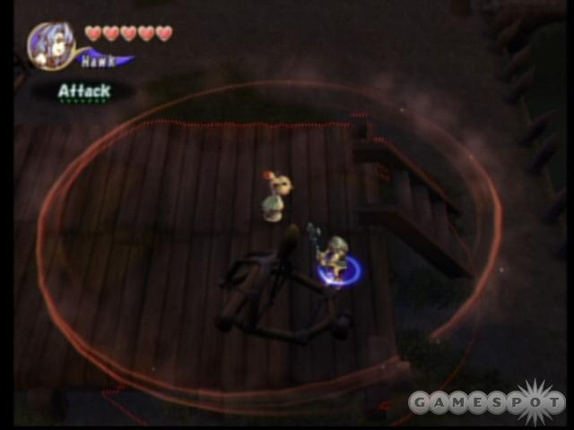 If you time it just right and hit this catapult with a weapon while an enemy is standing in front of it, you can deal him some massive damage.