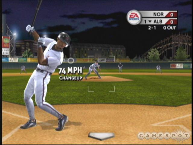 MVP 2004 simulates a lot of fine details, such as how fielders have a tougher time of accurately throwing the ball after it's caught while off-balance.