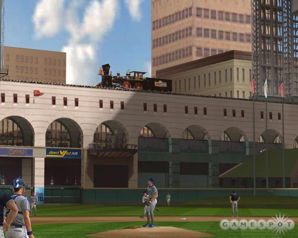 Broadcast-quality cameras swivel around and catch the action from numerous angles. Every hit that goes for multiple bases is rewarded with an in-depth replay that often includes park-specific features, like Houston's