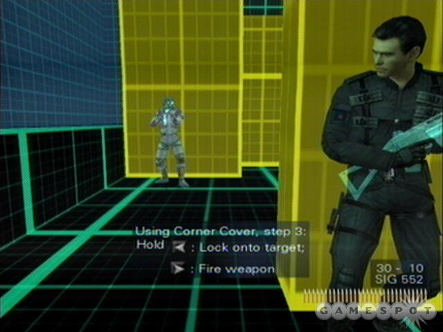 Bond will regularly find himself looking around corners to shoot an enemy.