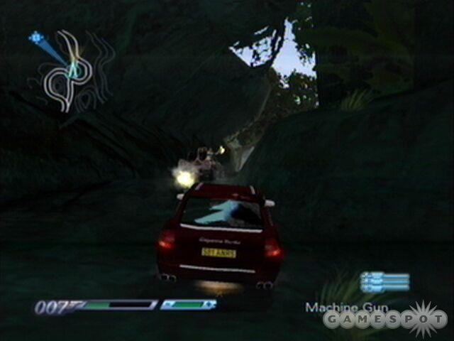 Machine guns can take down the enemy patrol car real quick-like.