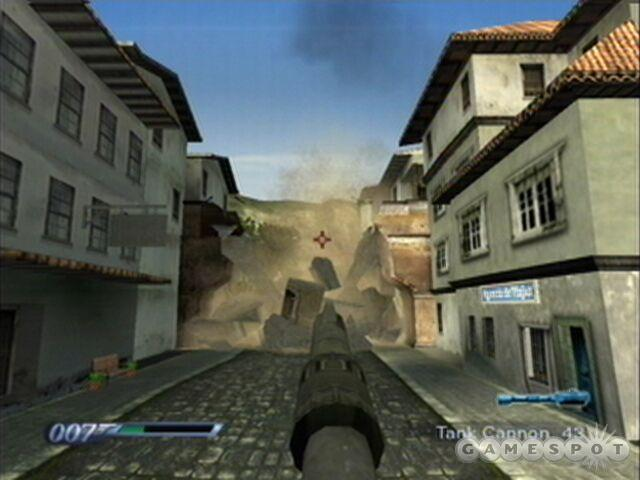 Having the main gun blast the foot bridge over the street makes taking out the enemies on it much easier.