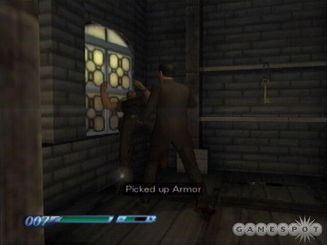 Pound the sniper in the bell tower to pieces with your fists, then snag the armor.