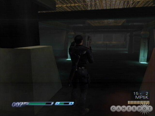 Shoot the steam vent on the large pipe later for a Bond moment and some stunned enemies.