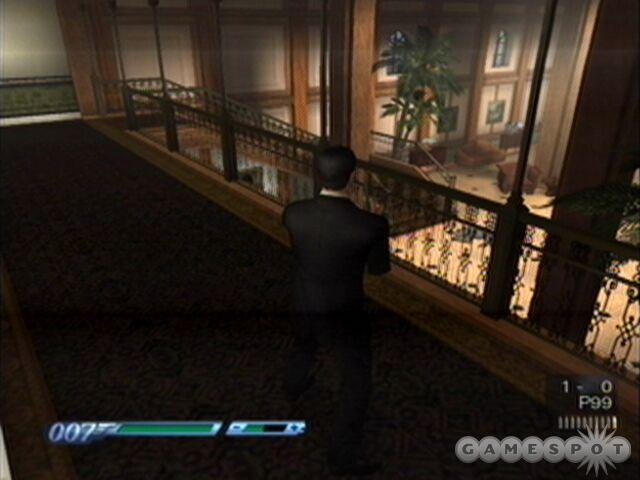We only managed to do it once, but if Bond is able to flip an enemy over the rail and onto the first floor below then he will score a Bond moment.