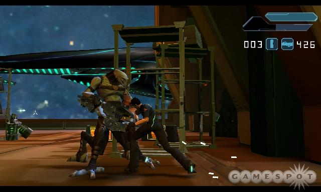 Advent Rising attempts to marry an engrossing sci-fi storyline with fast-paced shooting action.