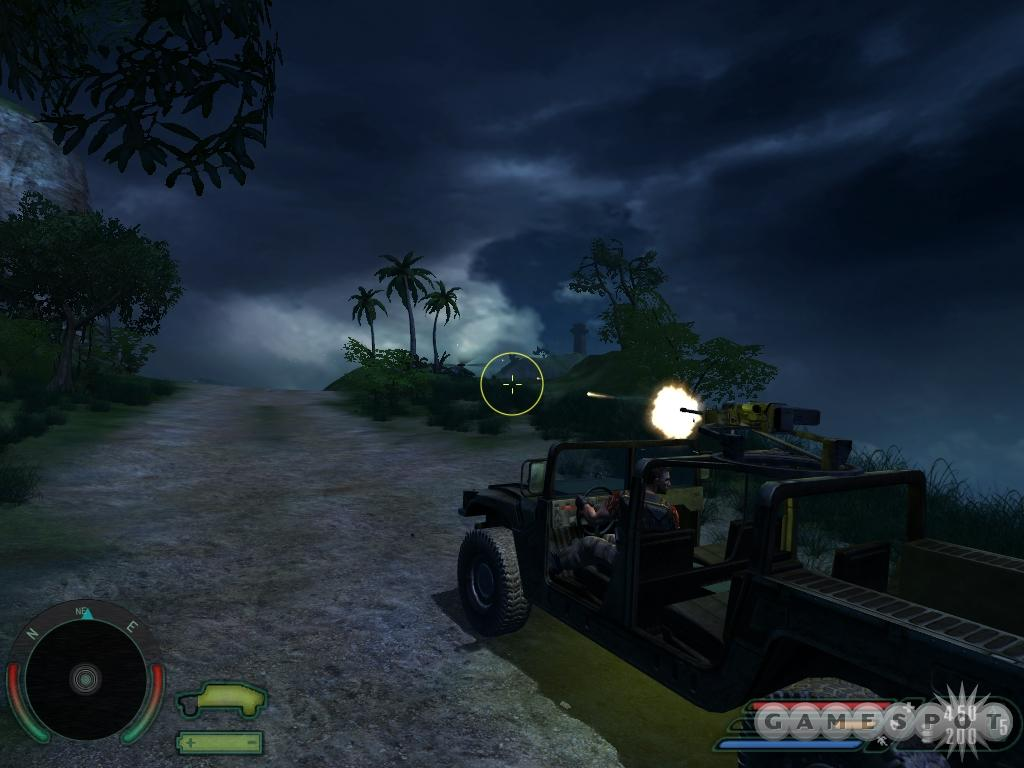 You can drive vehicles from a third-person perspective, which is easier.