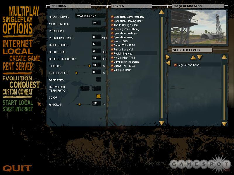 For weapons familiarization or flying practice, a local server is a better option than single-player mode.