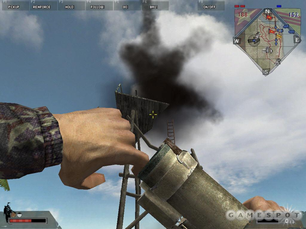 If you happen to be near an enemy tower with an M60/LAW, fire off your rockets at the tower. The admittedly light damage that results may help your team destroy the tower sooner.